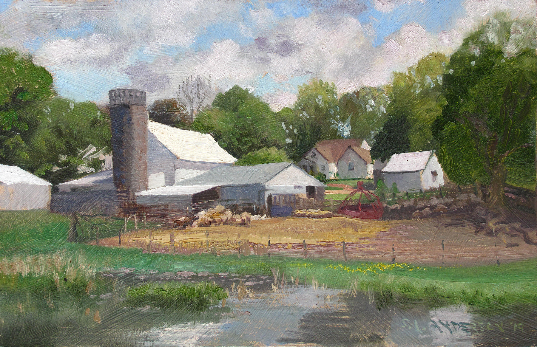 Sheep Farm  7 x 11 oil on panel Painted on location in San Francisco County, Minnesota.
