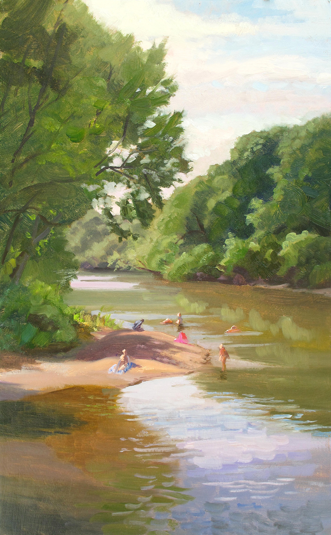 Rum River    20 x 12 oil on panel  Painted on location at City Park in Cambridge, Minnesota.