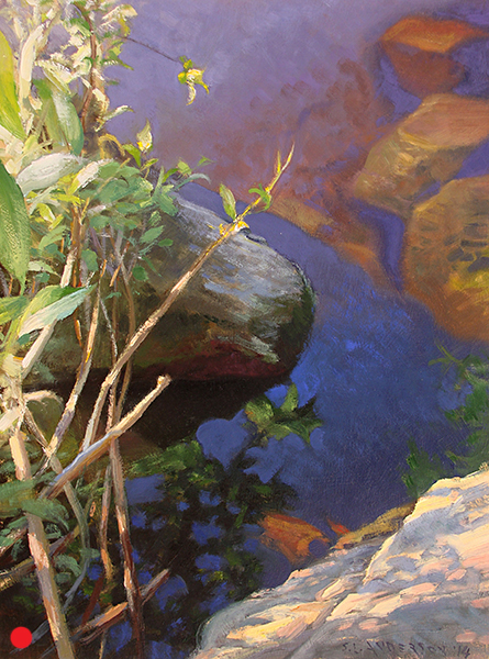 Rocks and Water 2, 16 x 12 oil on panel (sold)