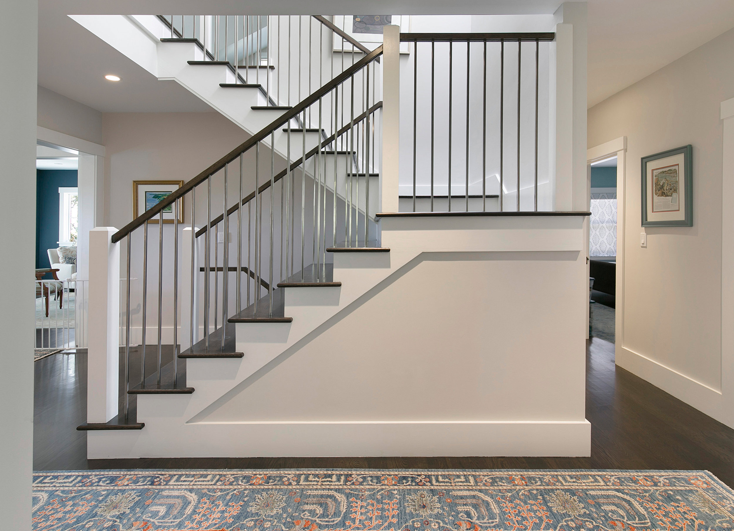 Berkeley whole home remodel interior design rug and stair.jpg