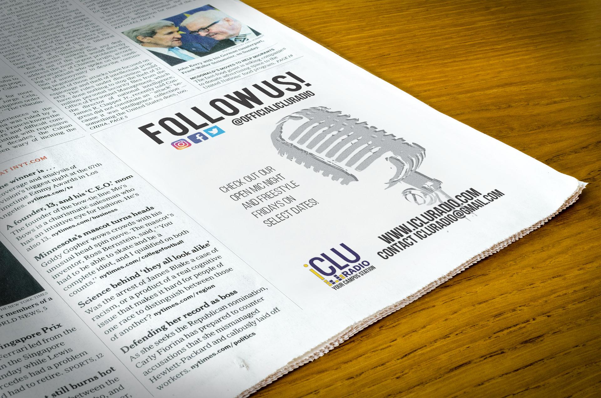 iCLU Radio Newspaper Advert.jpg