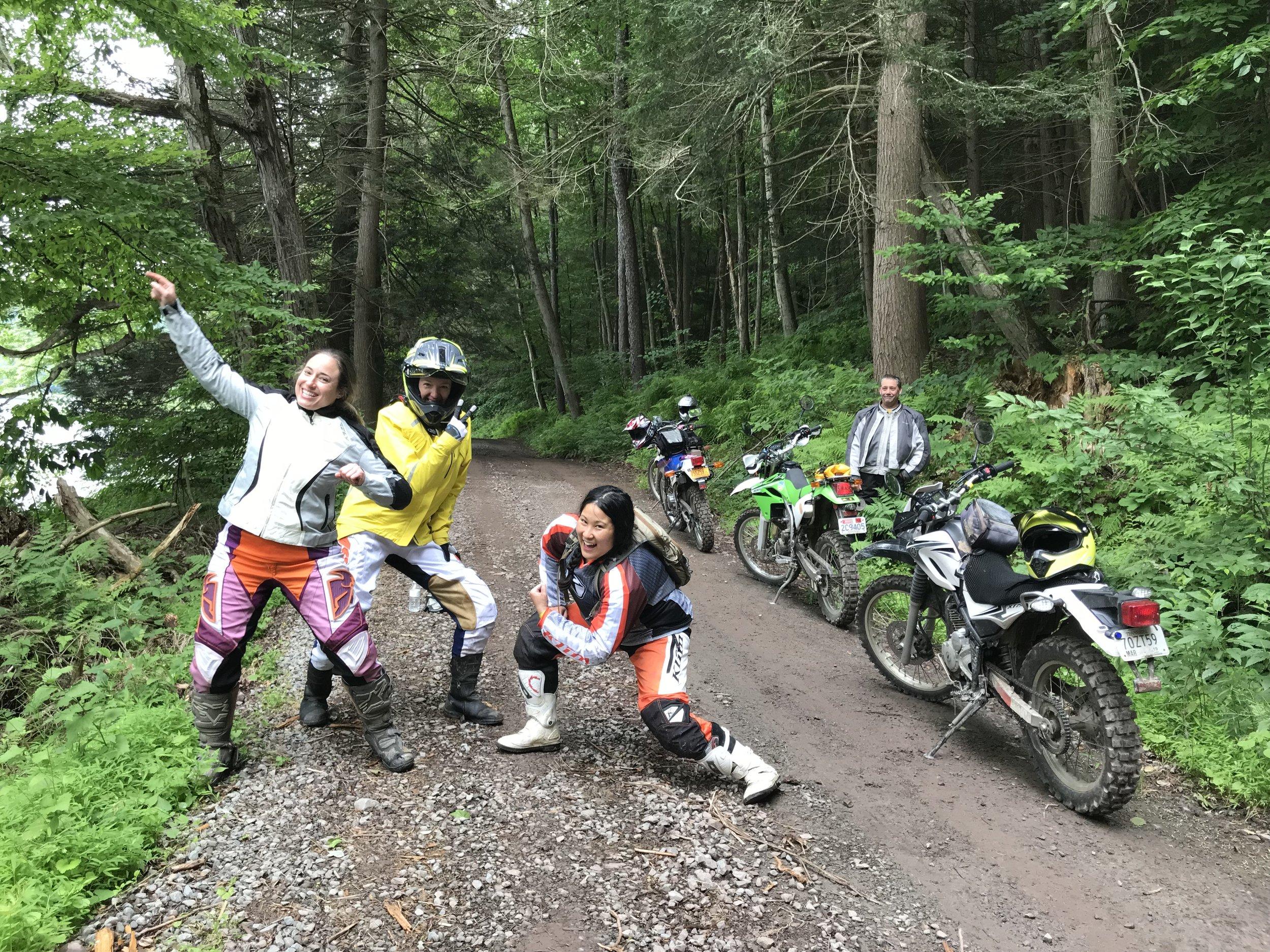 Photo courtesy Victoria Zandonella, Northeast Dualsport Riders.