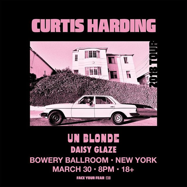 Playing a show with our main man @curtisharding at the Bowery Ballroom! Ticket link in bio!