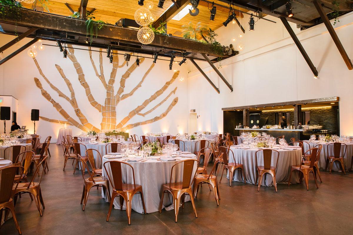 Main floor venue set up as a wedding venue