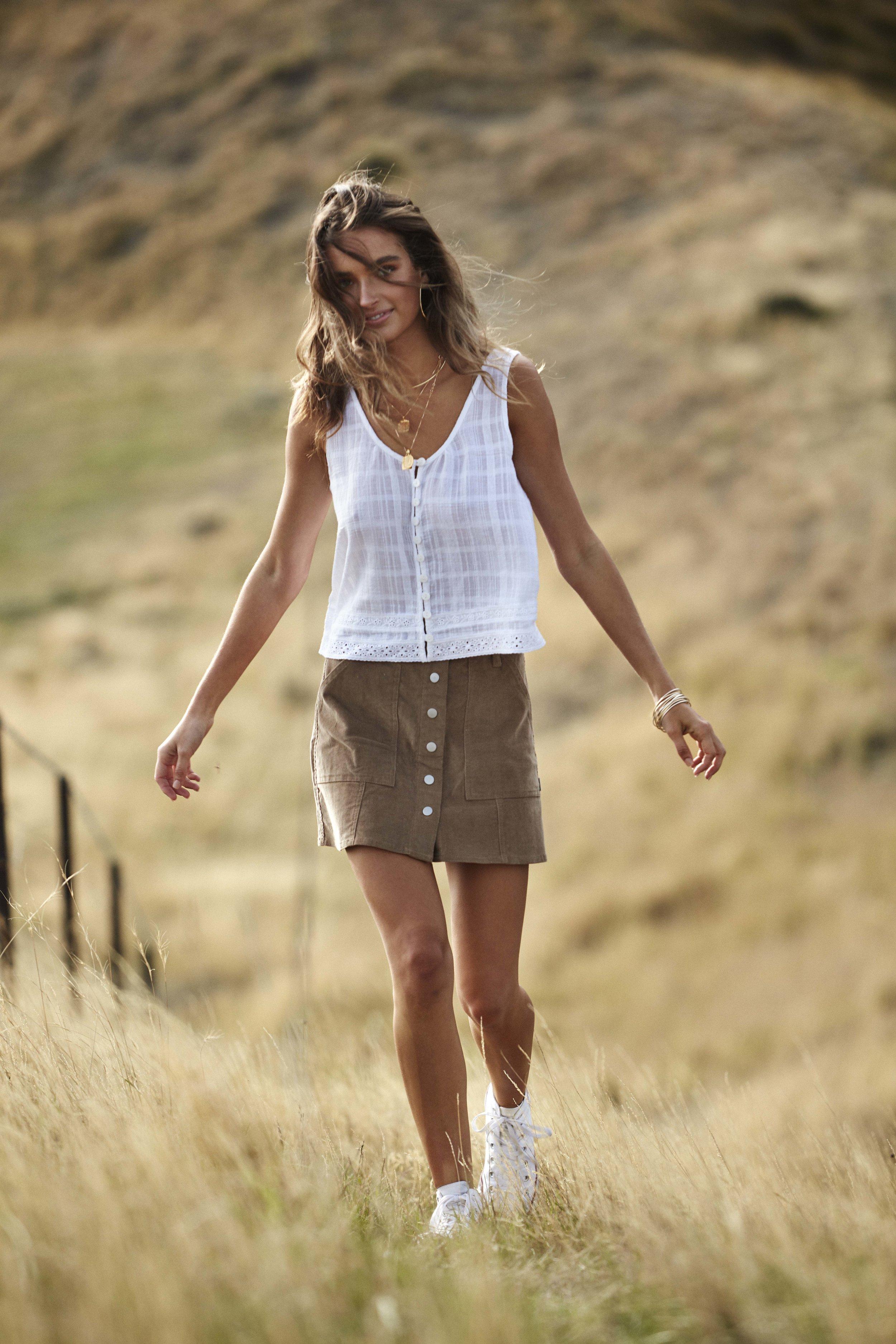 Capetown Top White and Runaway Skirt Army 3.jpg