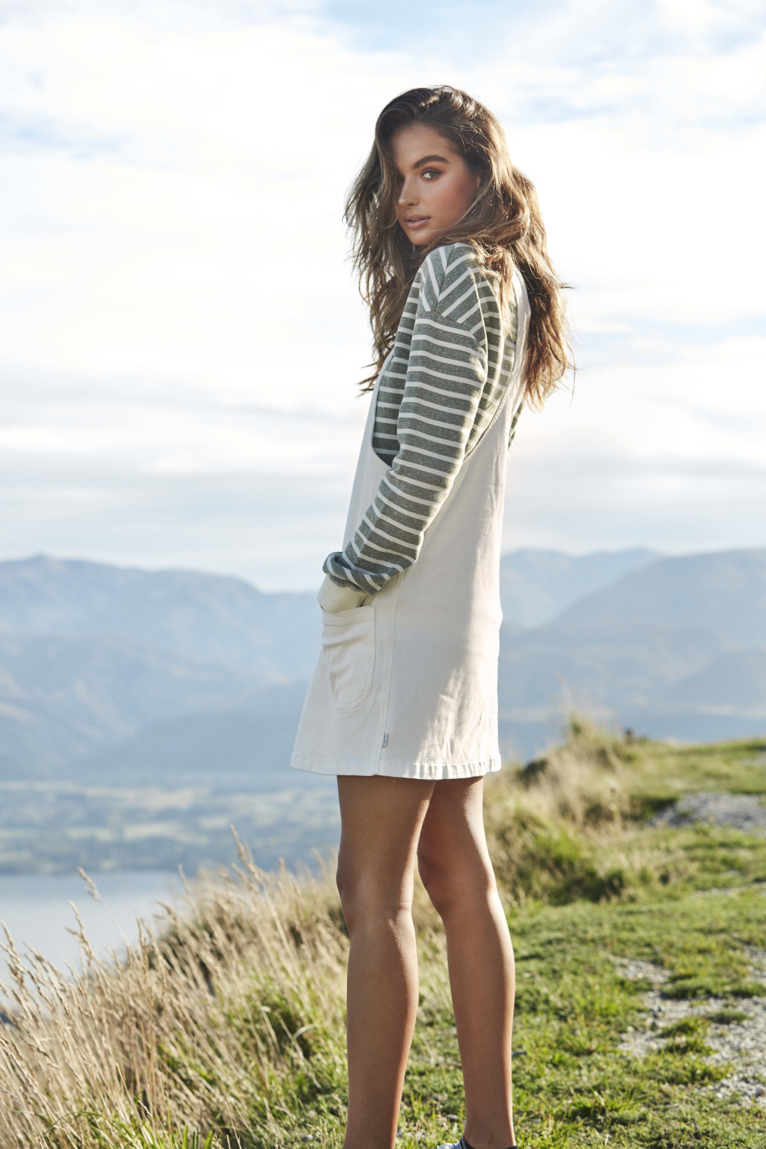 Daybreak Pinafore Dress Natural and Classic Pullover Army 6.jpg