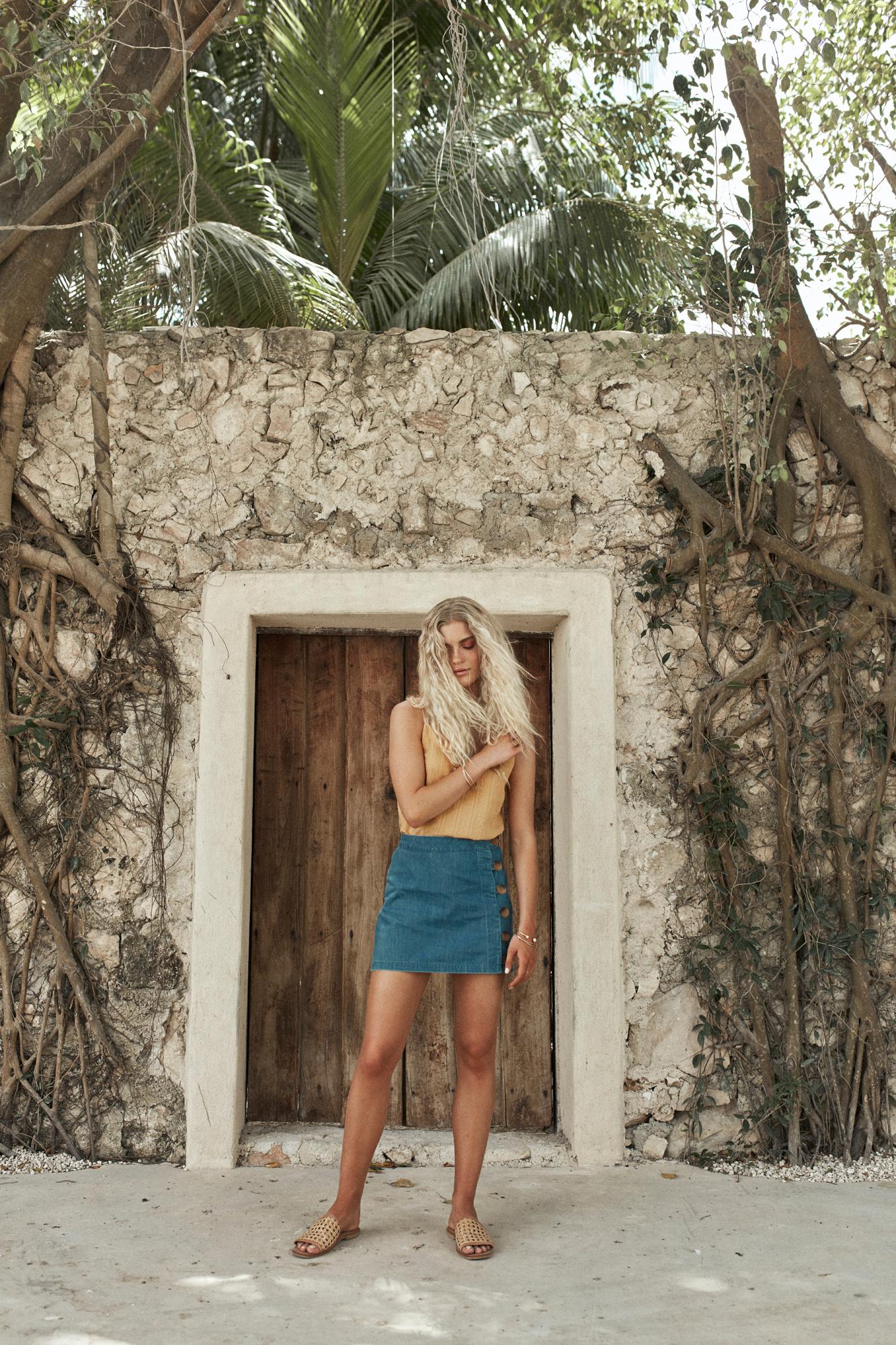 Noumea Top Marigold and Brooklyn Skirt Denim.jpg