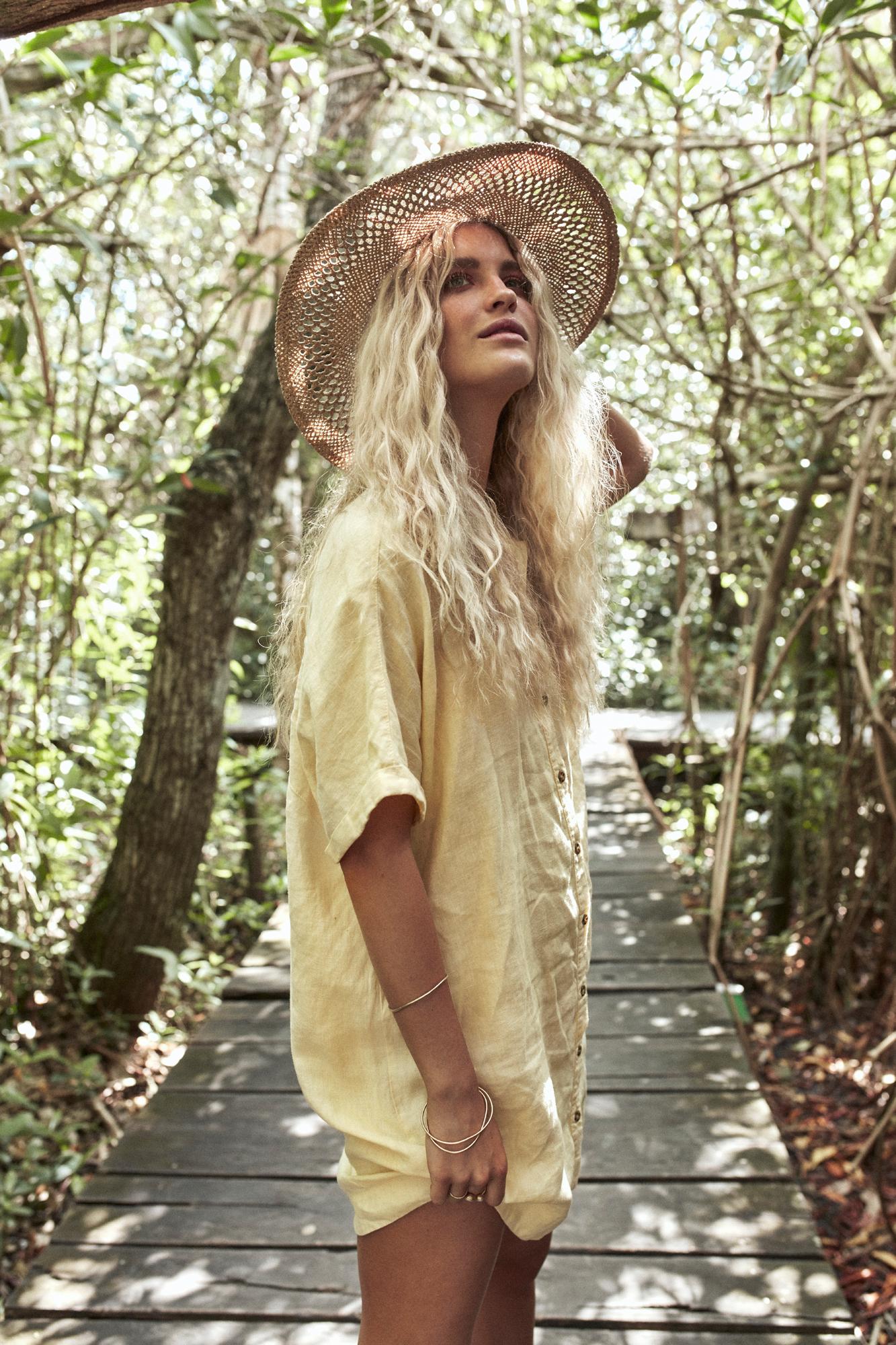Amalfi Dress Lemon and Tiki Hat Straw1.jpg