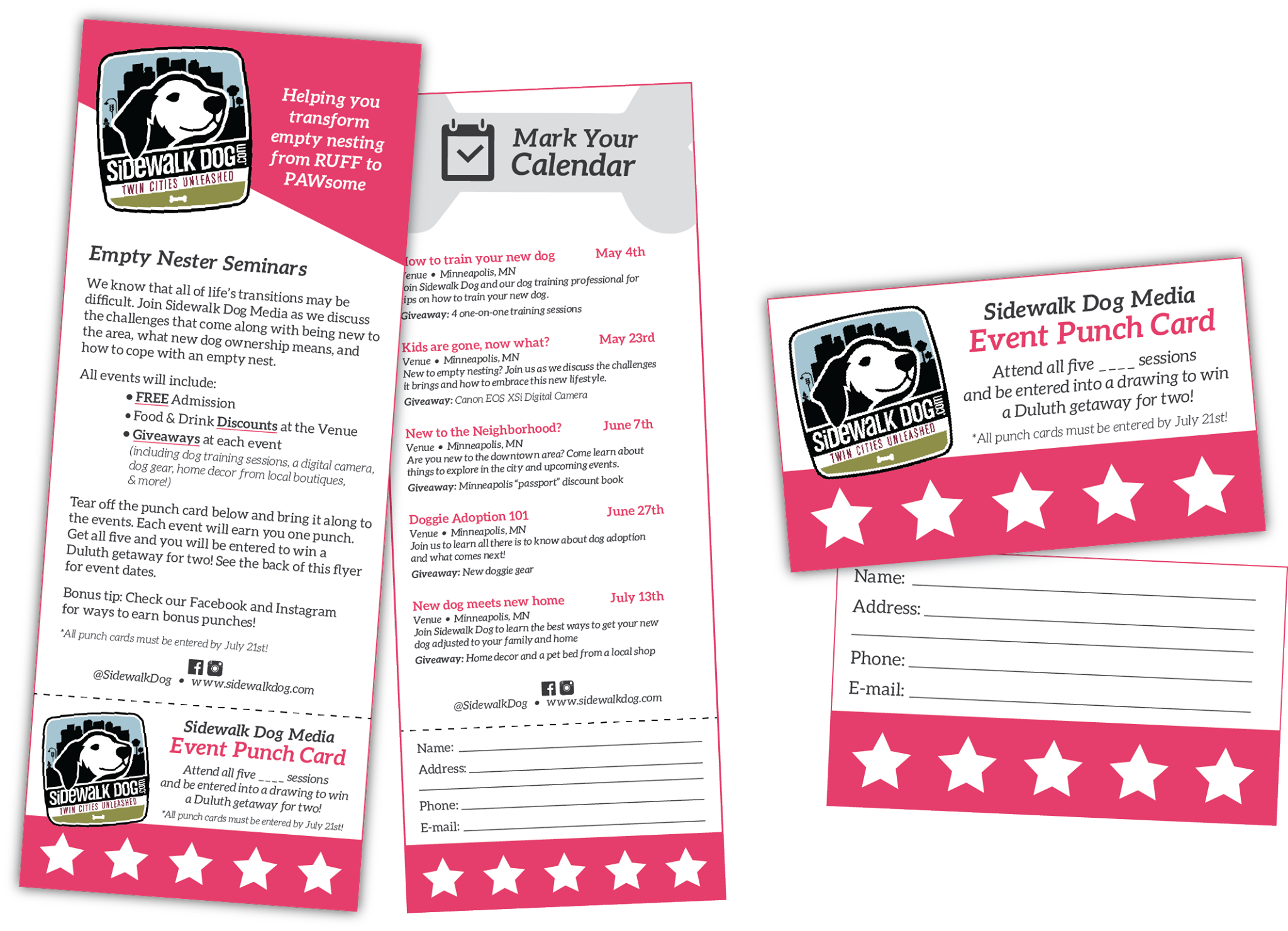 Flyers with Tear off event punch card