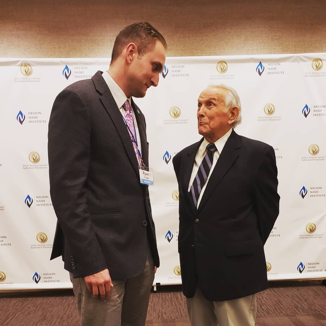Ryan stands with his mentor and friend R. Nelson Nash at the 2019 Nelson Nash Institute Think Tank Symposium on February 6 and 7 in Birmingham, AL. This was the last NNI Think Tank Nelson would attend before passing away on March 27, 2019.