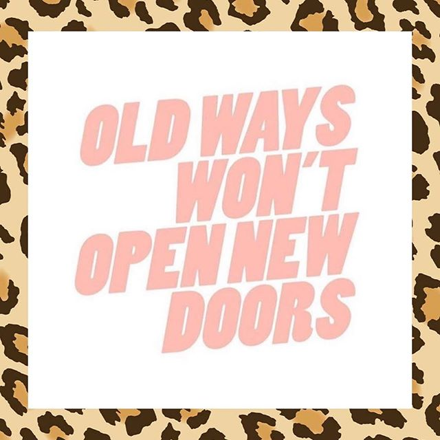 "☆ OLD WAYS WON'T OPEN NEW DOORS ☆ Here's why… ⭐━━━━━━━━━━━━━ You know the old saying about the definition of insanity: doing the same thing over and over again and expecting different results. ⭐━━━━━━━━━━━━━ Being ok with being uncomfortable and stepping out of your comfort zone to take a chance is easier said than done.  The human condition wants us to be cautious because we don't want to get hurt or experience failure.  This thinking is actually what is stopping you from doing what you are meant to do. ⭐━━━━━━━━━━━━━ New experiences can inspire you to take paths that you never imagined, opening you up to a new world of possibilities.  If you never take a chance, you can never get somewhere new.  Following a seemingly impossible dream takes a lot of courage, and starting over to do it takes even more.  Whether you get there or not, you will be glad that you put everything you had into trying. Taking a leap and getting out of your old story that is keeping you stuck is enough to open new doors. ⭐━━━━━━━━━ Take 5 minutes to write down ""old"" and ""new""ways.  How can you shift and try something new today? ⭐━━━━━━━━━━━━━ xx SarahCat 💋"