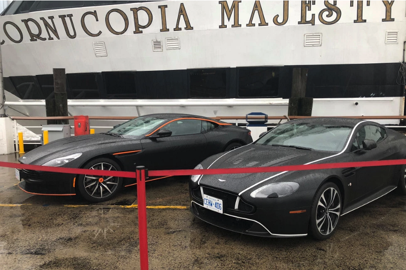 Raffling off two Aston Martins at the Decrentral's Consensus boat Party