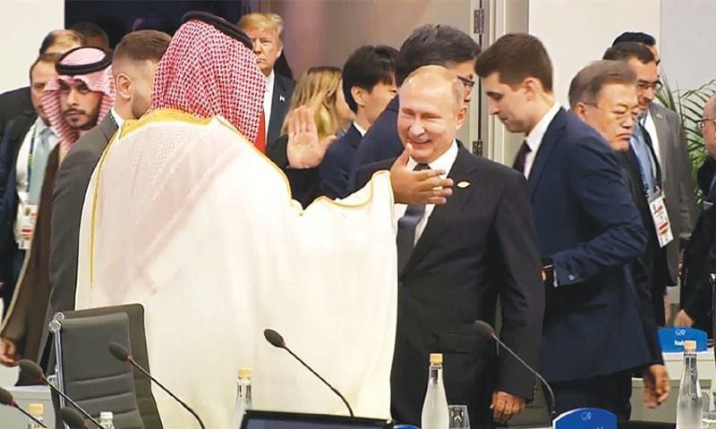 MBS and Putin at G20 in Argentina.