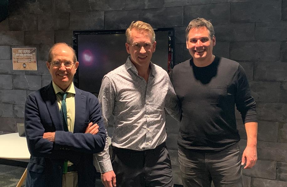 From left to right: Algorand founder Silvio Micali, Apollo Capital CIO Henrik Andersson and Algorand LLC CEO Steven Kokinos