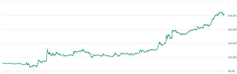 Price of DGD Nov 11 2019 — Feb 11 2019