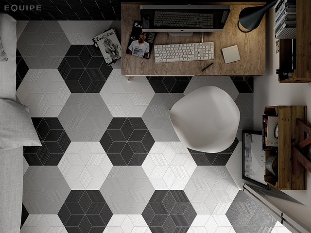 RHOMBUS WHITE LIGHT GREY, DARK GREY MATT GLZ PCLN (140x240).jpg