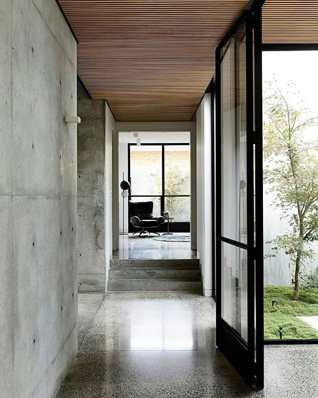 "I always love hearing what inspires design. ARCHITECTURE: The brief for The Light Vault House by @chamberlainarchitects was clear with the client asserting ""we want a concrete bunker"". I think they nailed it in a really beautiful way! @chamberlainarchitects 📸 : @est_living"