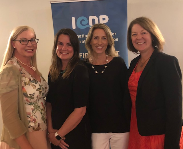 Trish Mackie-Smith, inndox CEO, Co-Founder (left), with fellow International Centre for Democratic Partnerships (ICDP) associates at Qld Parliament House.
