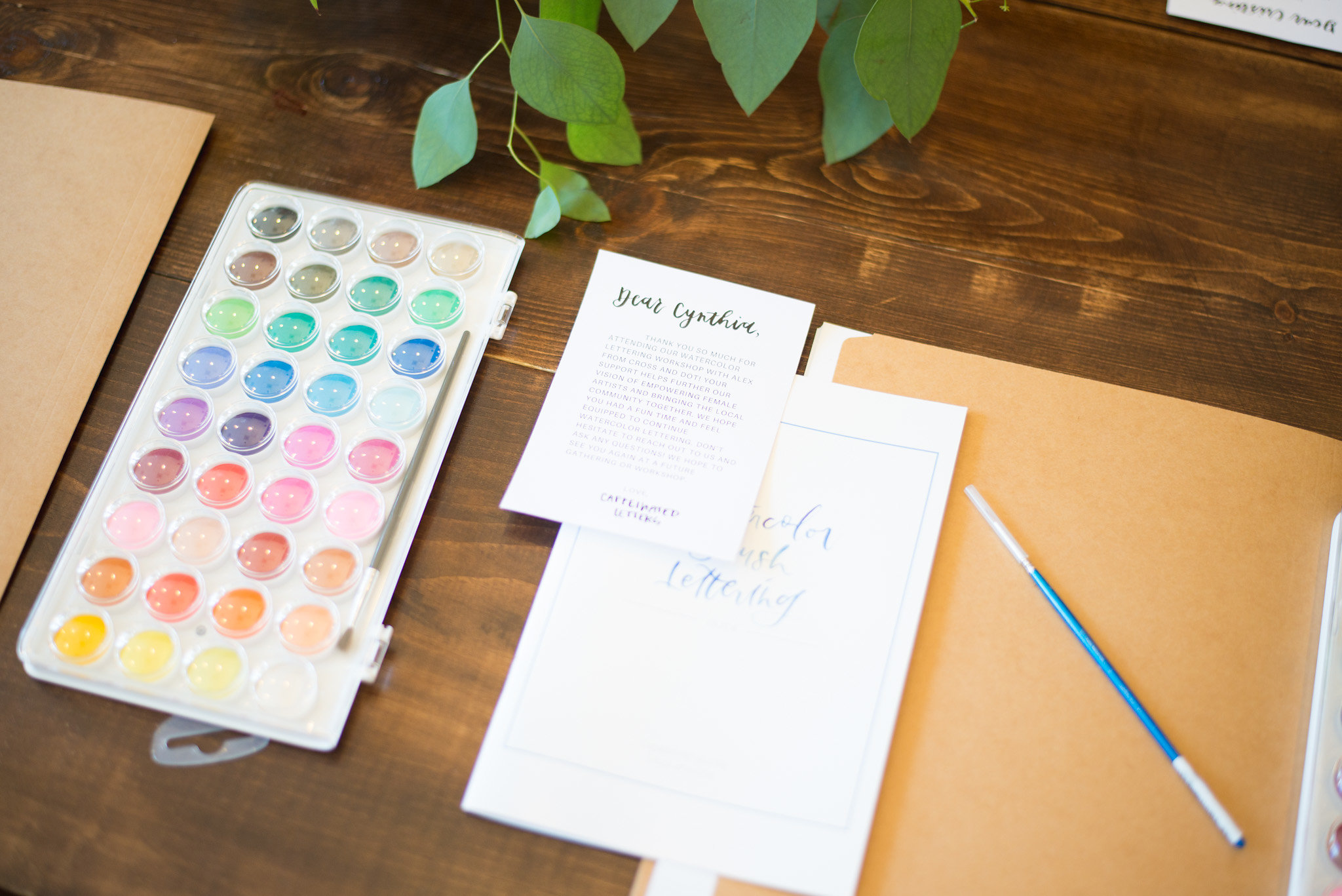 Watercolor Brush Lettering Guide