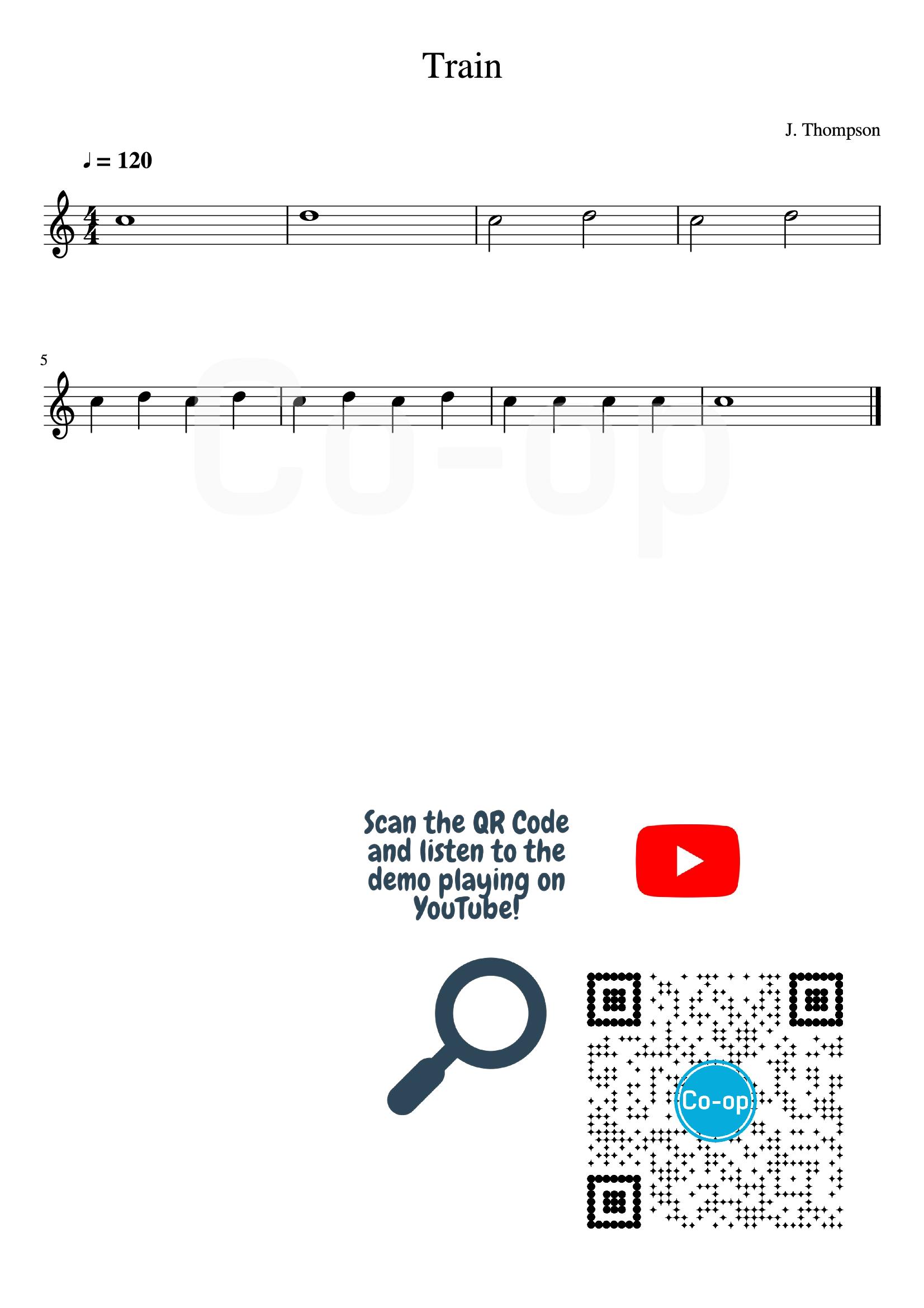 Train   Staff Notation   Free Sheet Music