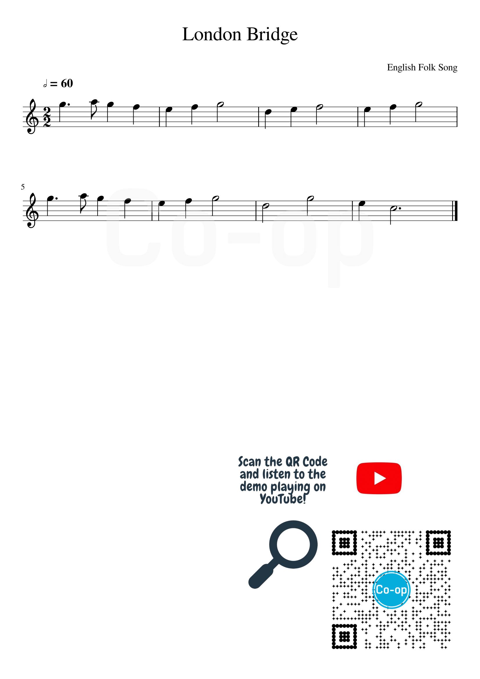 London Bridge | Staff Notation | Free Sheet Music