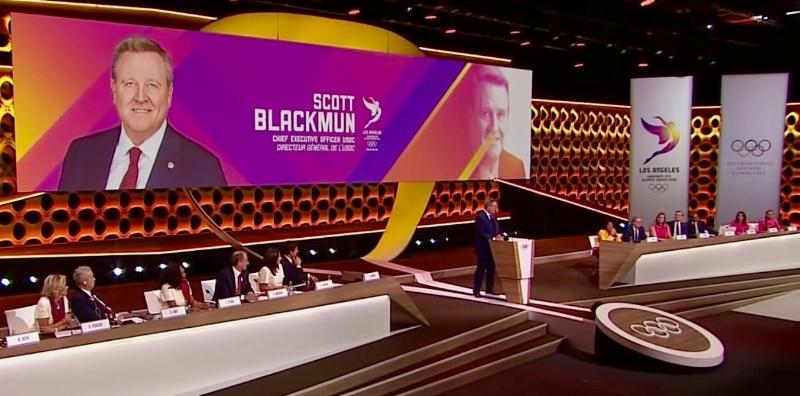 USOC CEO Scott Blackmun, Lima