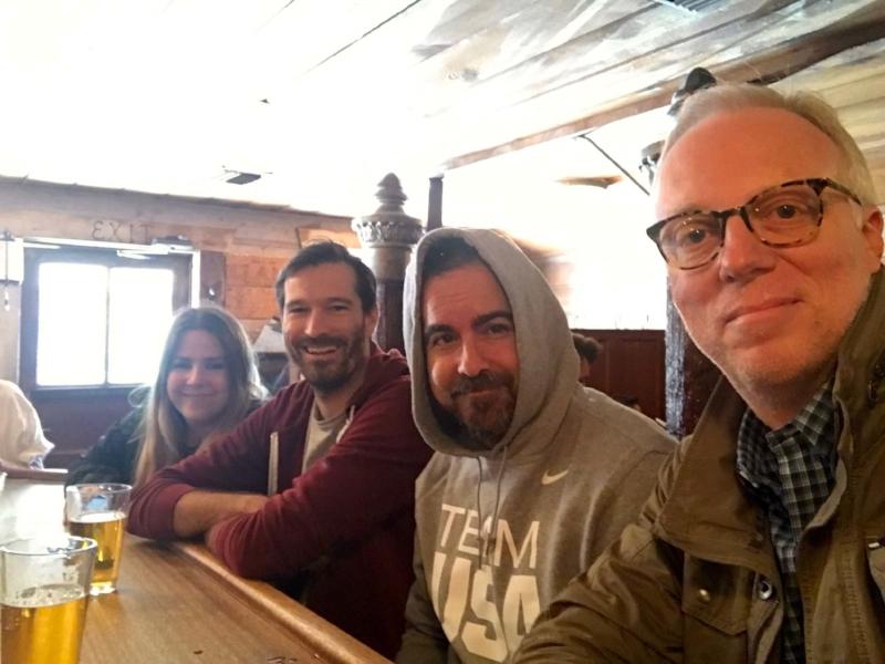 Paula, Nico, Carlos (MoveWild magicians), TB - The Old Place