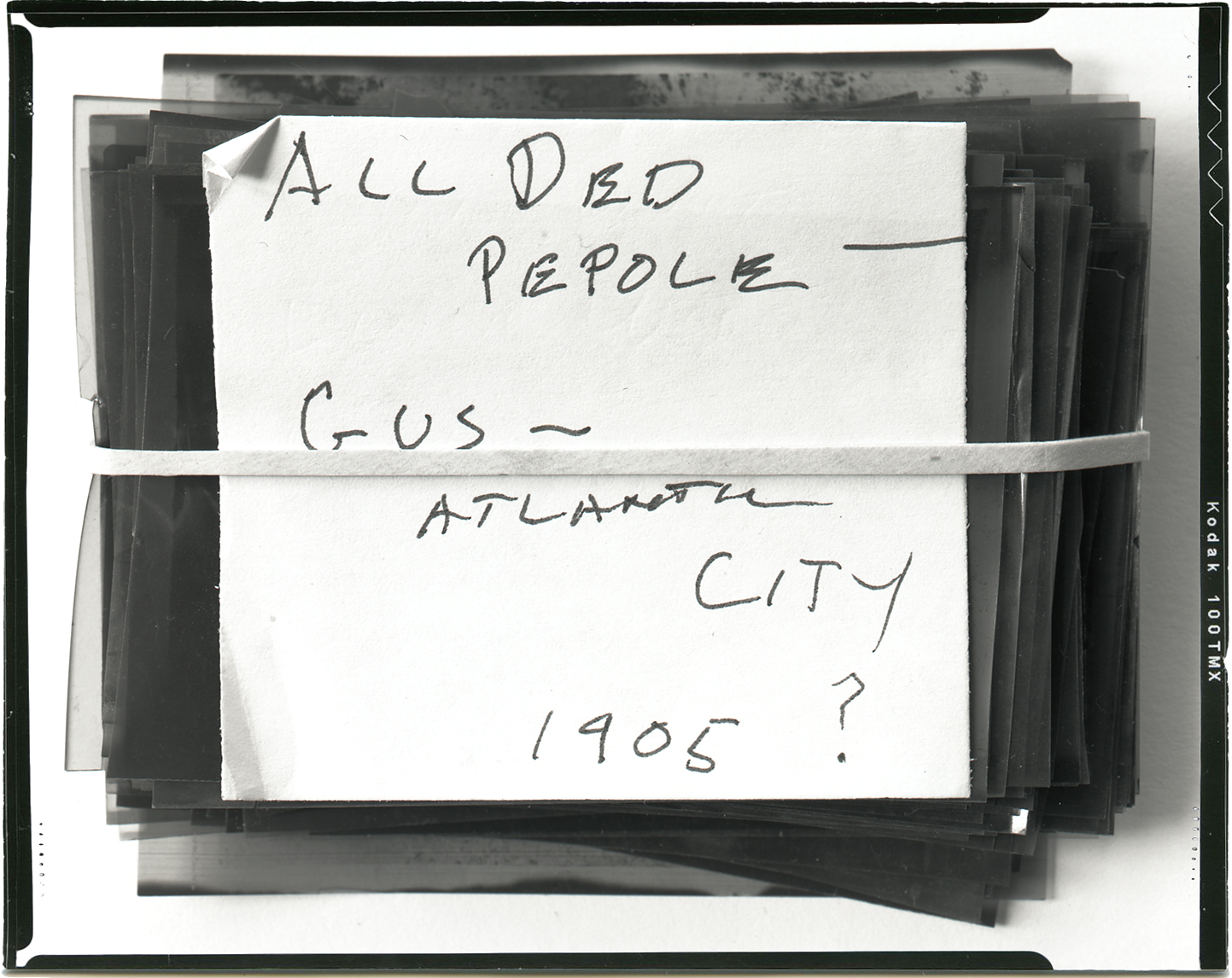 All ded pepole  , 2014 Silver gelatin contact print 4 x 5 inches Ed: 3 + 2AP
