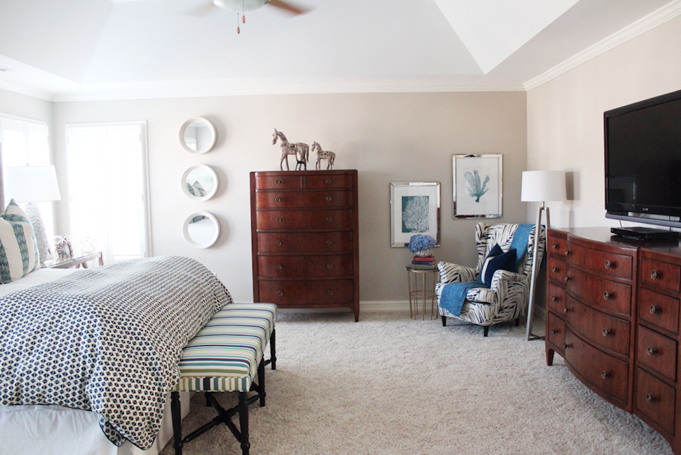 Dayka Robinson Master Bedroom Custom Upholstery bench dresser.png