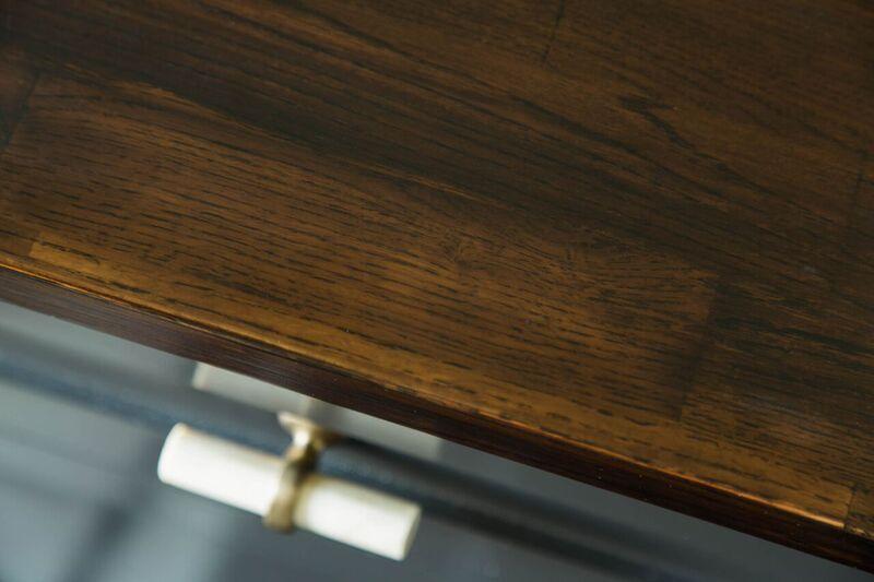 Dayka Robinson Brookside Oak Custom Butcher Block Countertop Bathroom 11:2015