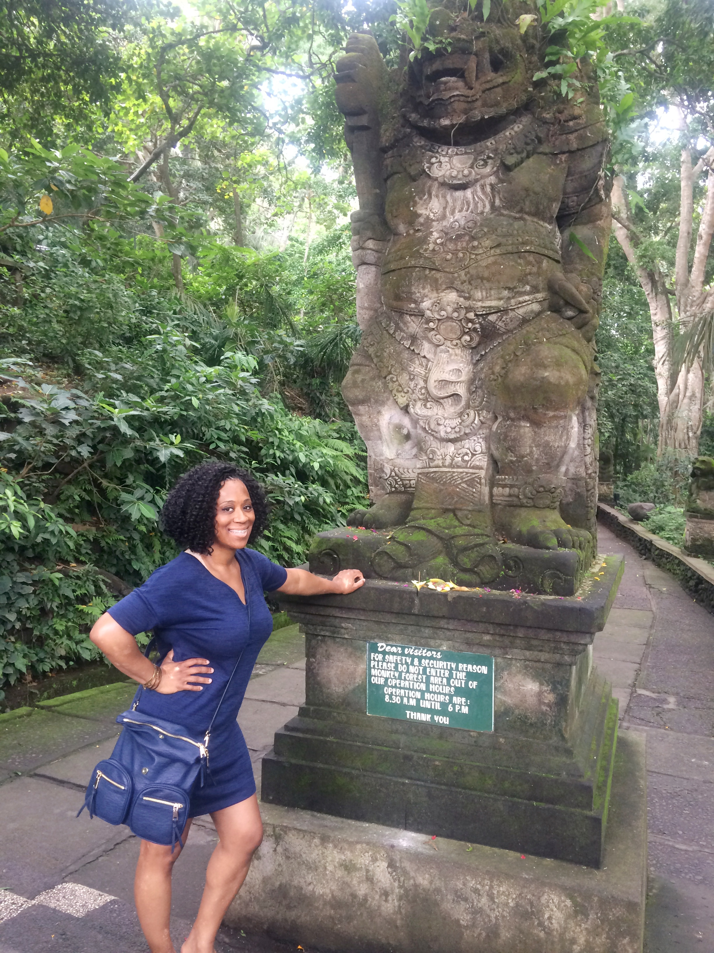 Dayka Robinson Bali Black Woman Solo International Black Woman Travel Ubud Moneky Forrest 2016