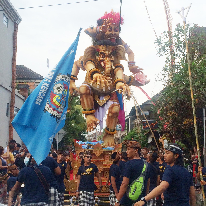 Dayka Robinson Bali Black Woman Solo International Black Woman Travel Ubud Ogoh Ogoh parade Nyepi 2016