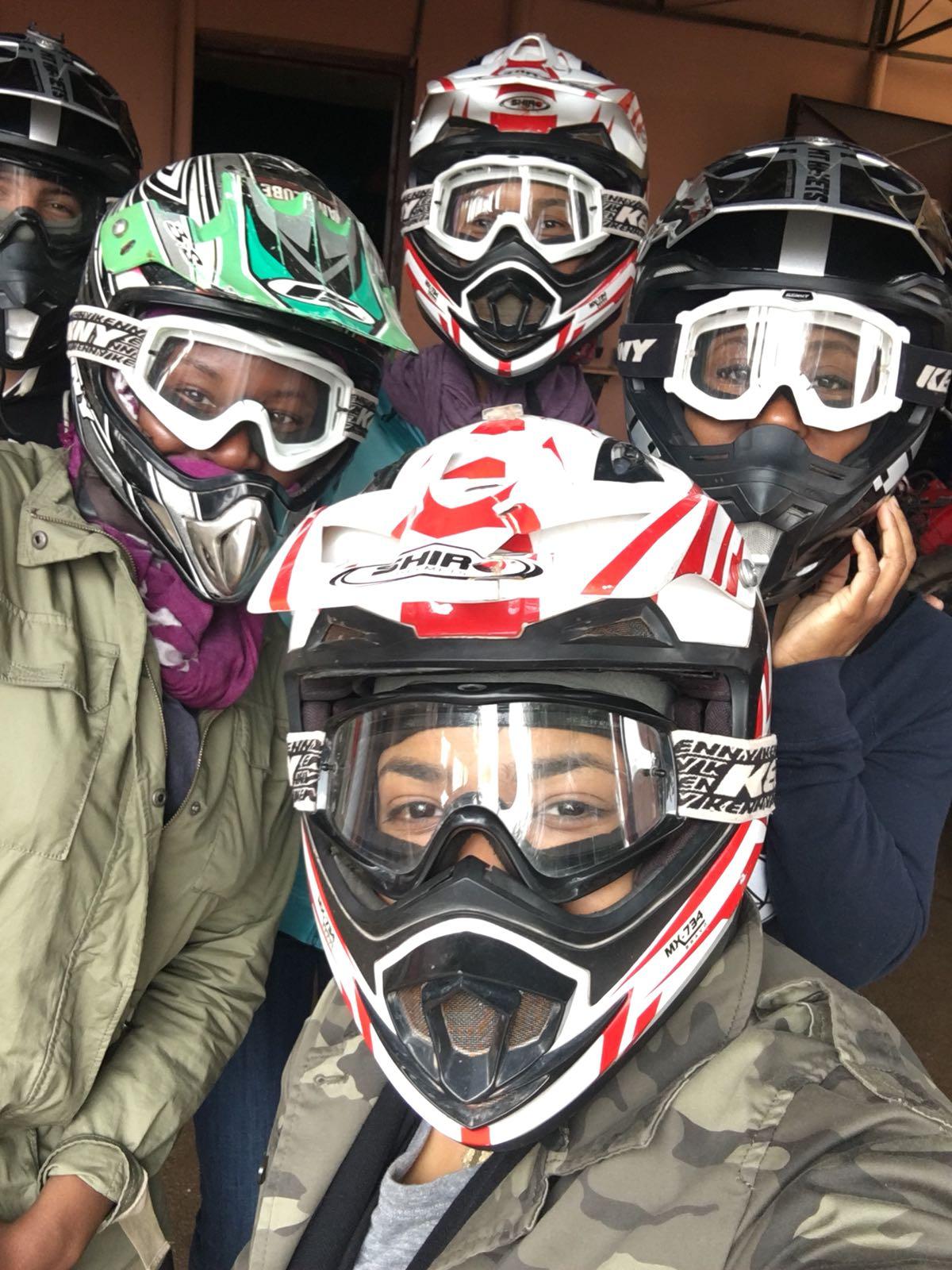 Lost & Found Marrakech April 2018 ATV helmets.JPG