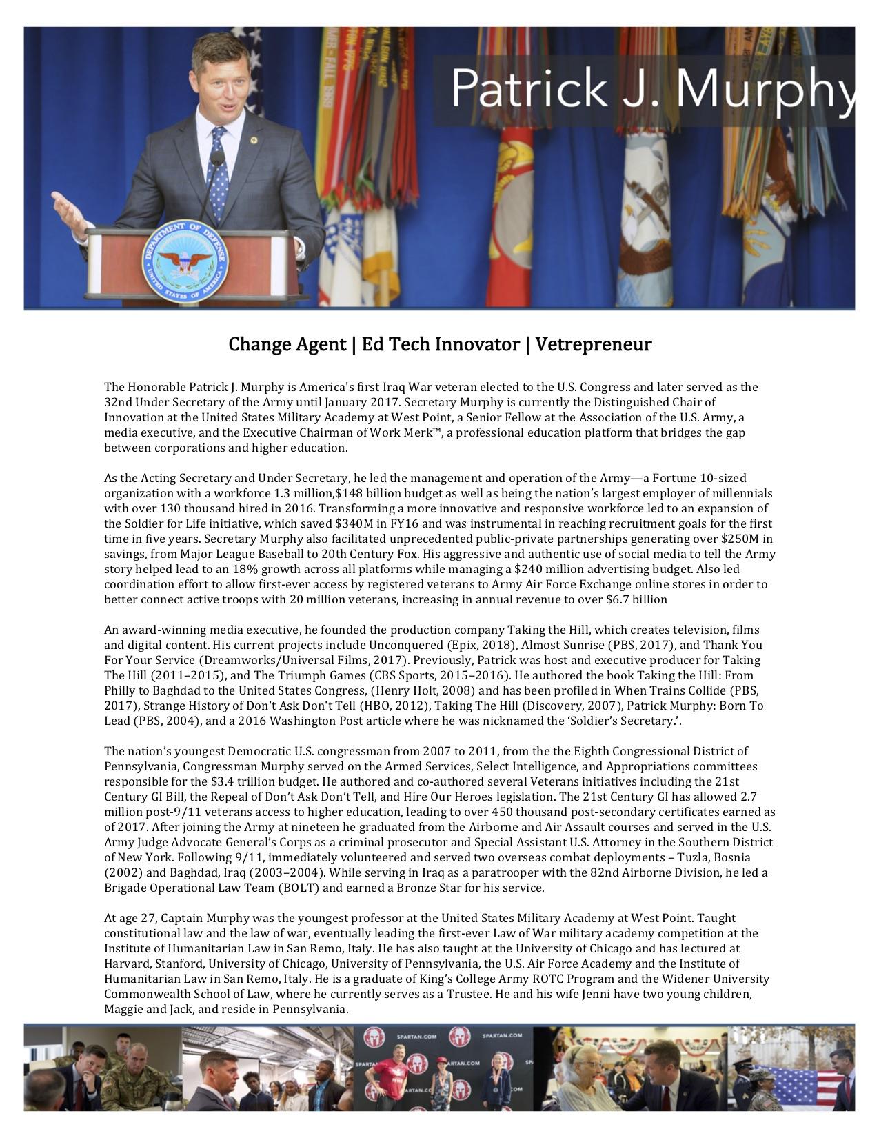 Secretary Patrick J Murphy Bio .jpg