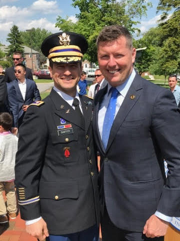 Patrick with Widener University Professor of Military Science, Lieutenant Colonel Justin Schaffer