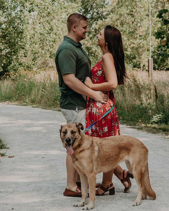 "I can not stress this enough for you couples and even families! Always bring your dog(s)😂❤️ I loved this mini session so much!! Getting to meet new clients and a new dog is always a great day, especially when they are down to do the ""101 Dalmatians"" pose🤗 check out my story for more!!!! • • • • • •  #portrait #portraits #photographer #postthepeople #peoplephotography #bright #beautiful #bleachmyfilm #blessedbyfilm #couplephotography #couplephotographer #ohiophotographer #love #sunflare #socute #adorable #daybreeze #shootandshare #unconventionaltogs #belovedstories #authenticlovemag #gpresets #courtneyranesphotography #radlovestories #thewedlocks #deepintimatelovers #ohiolovers #midwestlovestories"