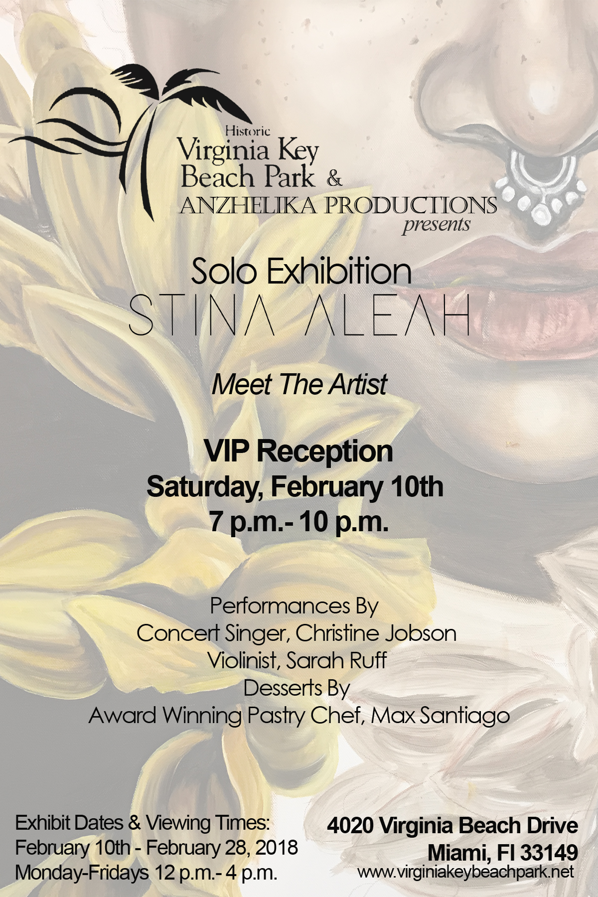 Solo Exhibition with the Virginia Key Beach Park on February 10th 2018.Work will be on display until February 28th, 2018