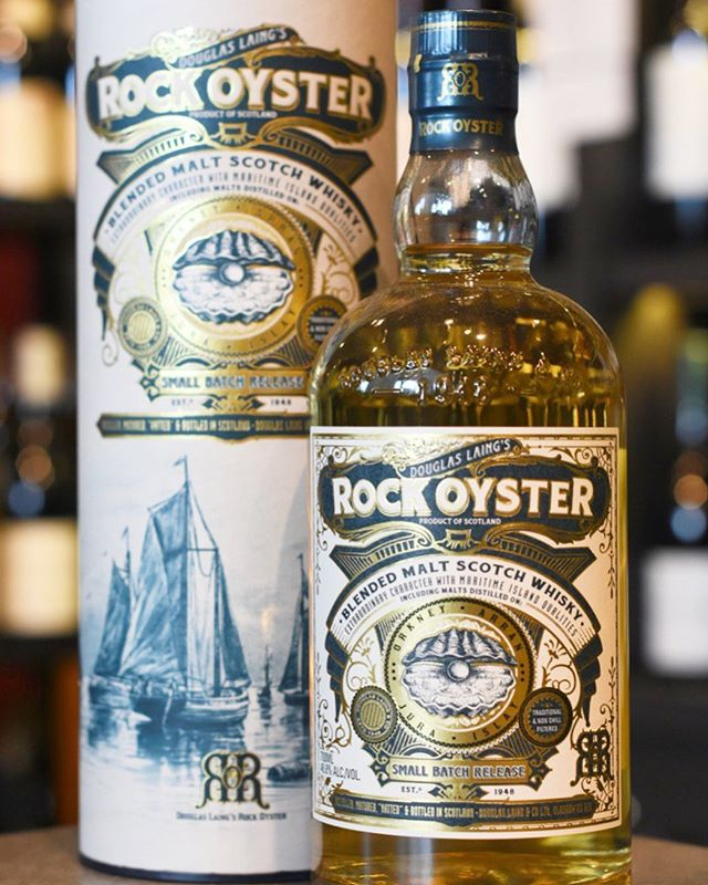 Rock Oyster is Douglas Laing's blended malt based on whiskies from the Islands  and is rich with a smoky and maritime character.  Get it today at The Moomba.  #rockoyster #rockoysterwhisky #whisky #sgwhisky #sgdrinks #whiskytime #drinks #sgwine #winetime #sgdrinking #sgbar #rockosytersg #sgwhiskys
