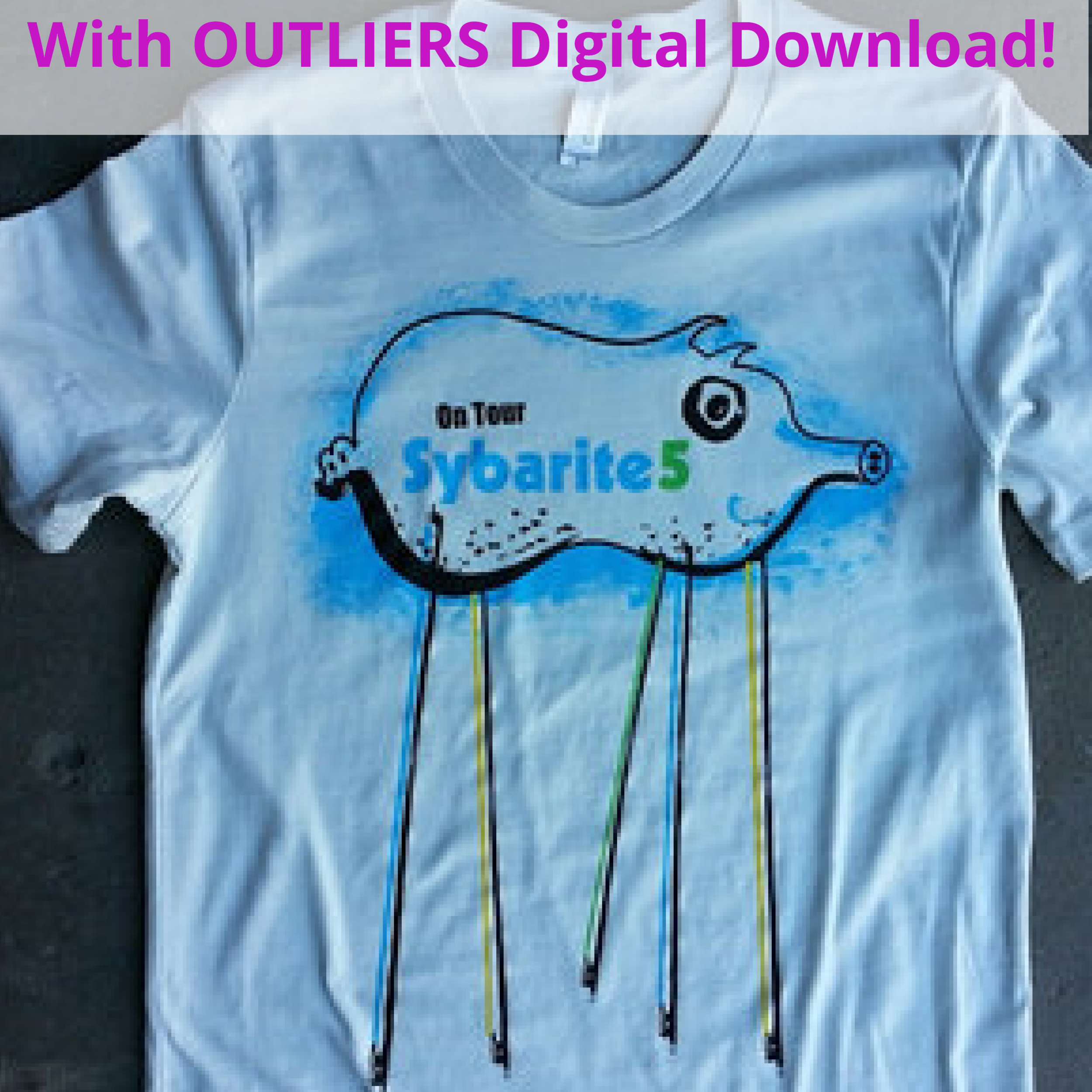 <b>Piggy<br></b><small>T-shirt + OUTLIERS Full Digital Download<br></small><b>$25</b>