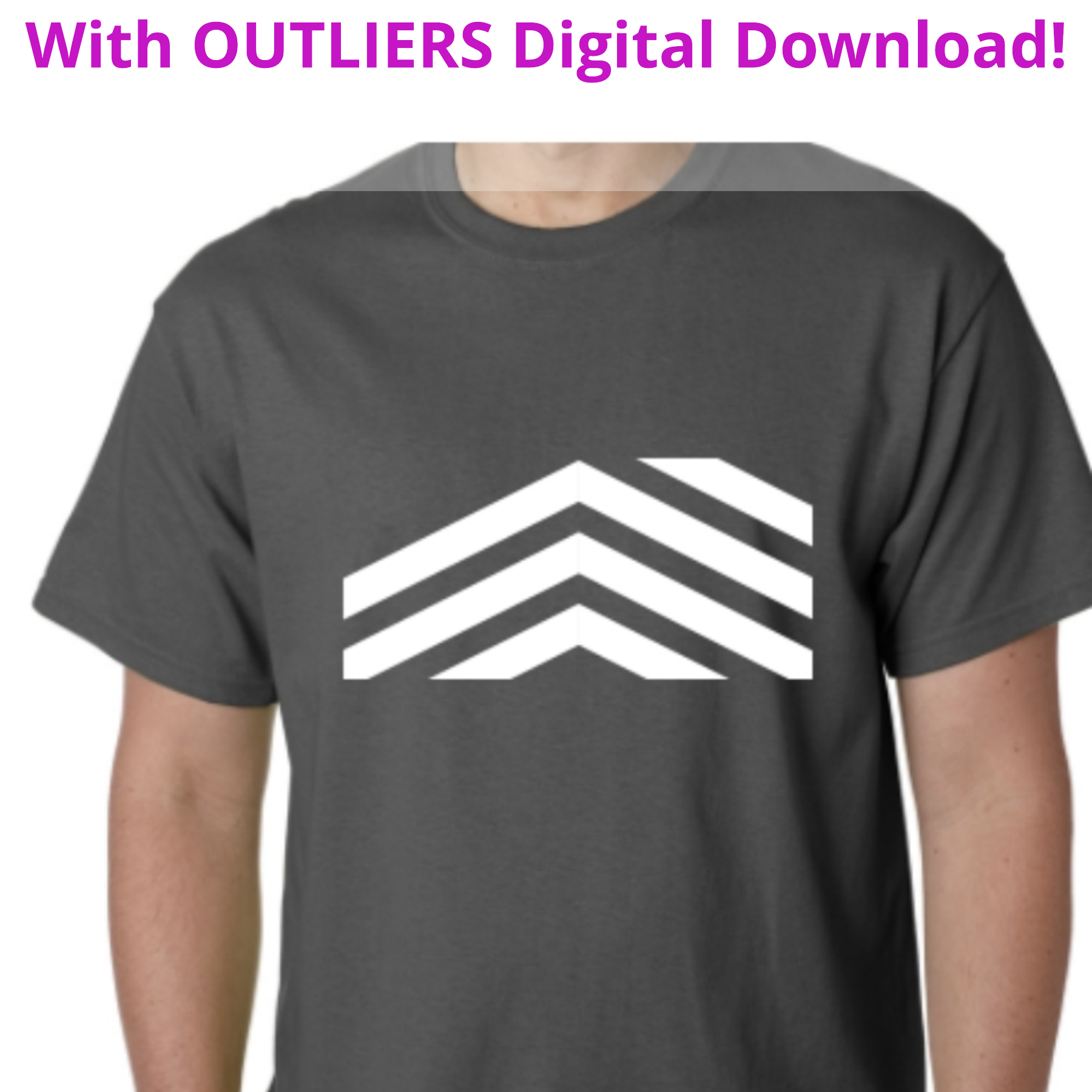 <b>OUTLIERS</b><small><br>T-shirt + OUTLIERS Full Digital Download<br></small><b>$25</b>