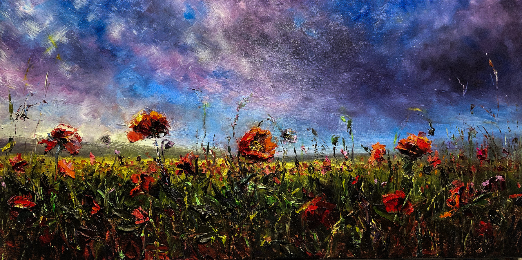 """wildflower walk"" 12""x24"""