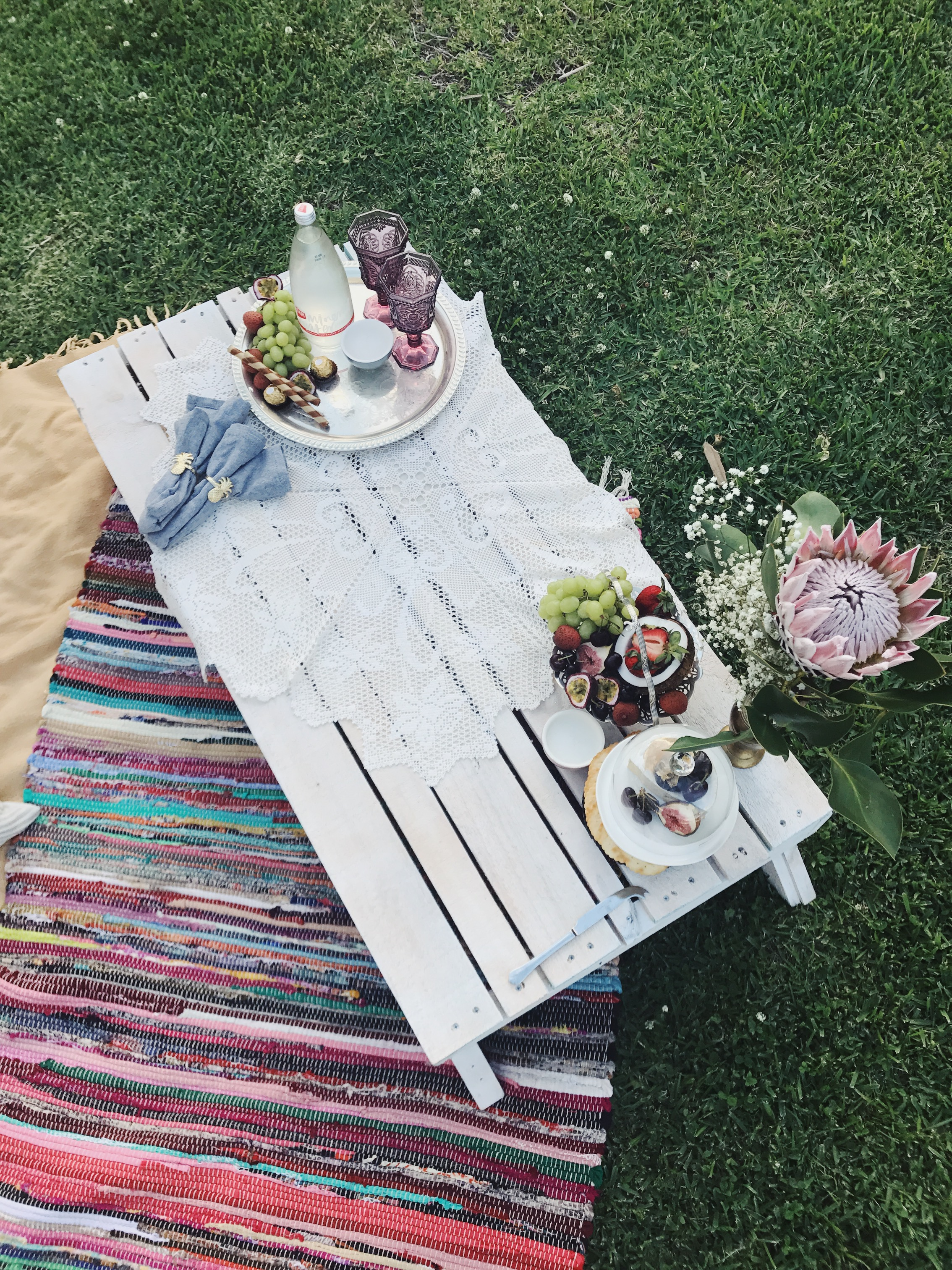 Bestfriend Picnic  - Want an afternoon just you and your bestfriend? We will deliver, set up and create something special.Prices are $220 for 2 pax, and $280 for 4 pax.Includes one of our cheese boards full of delights,pallet table, rugs, throws, cushions, flowers, cutlery, chilled sparking water and a delicious platter to share.*vegan/vegetarian/gluten free options available*delivery fee may incur outside zone.