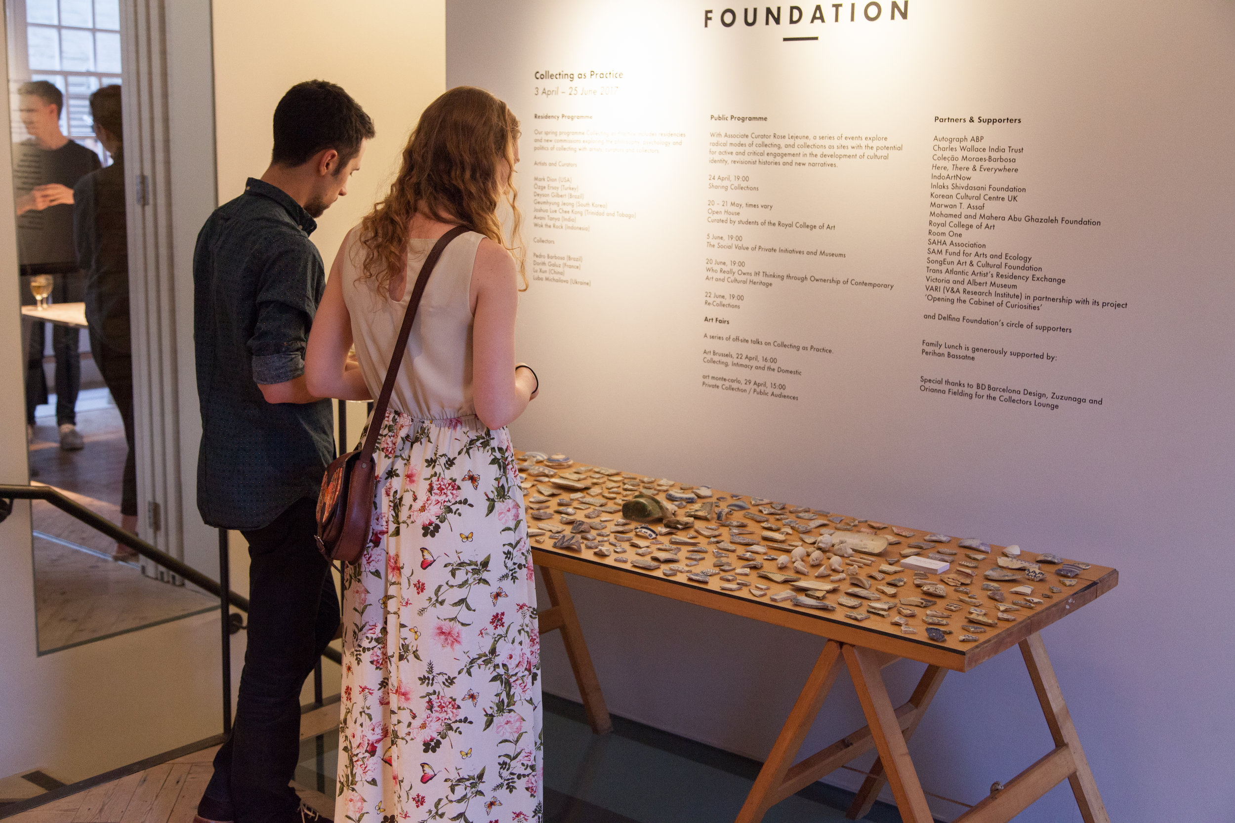 Shards display,Delfina Foundation, Victoria, London, 2017. Photo: Christian Lübbert