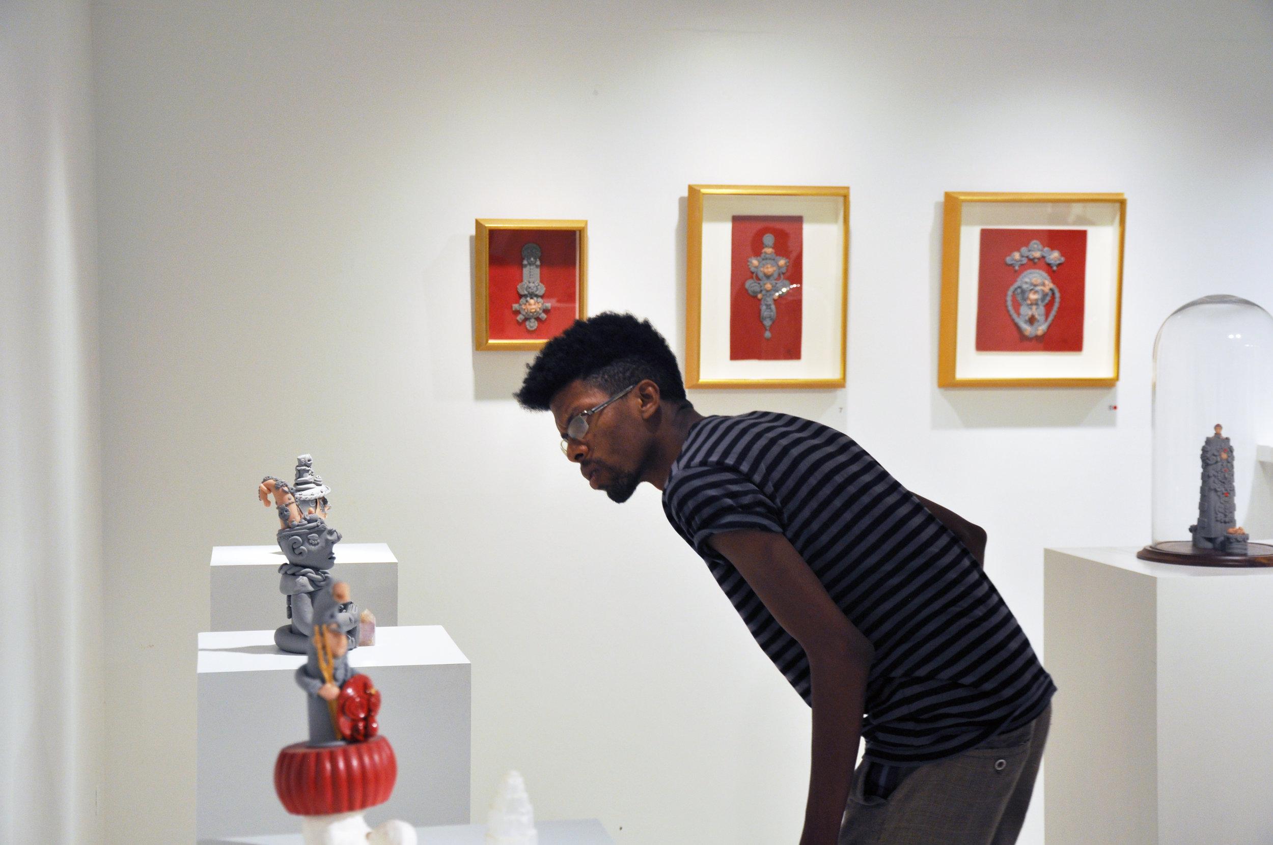 Installation view at Medulla Art Gallery, Woodbrook, Trinidad and Tobago, 2014. Photo: Joshua Lue Chee Kong