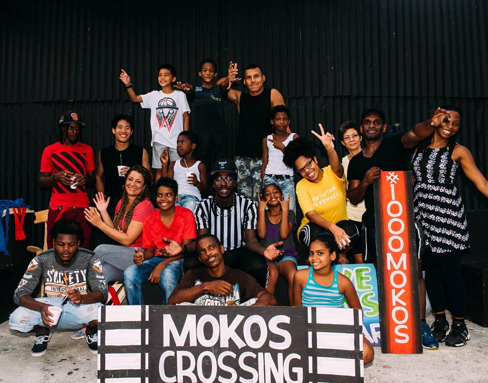 2 Bros Master class with Touch D Sky Moko Jumbie group, Big Black Box, Woodbrook, Trinidad and Tobago, 2017. Photo: #1000mokos