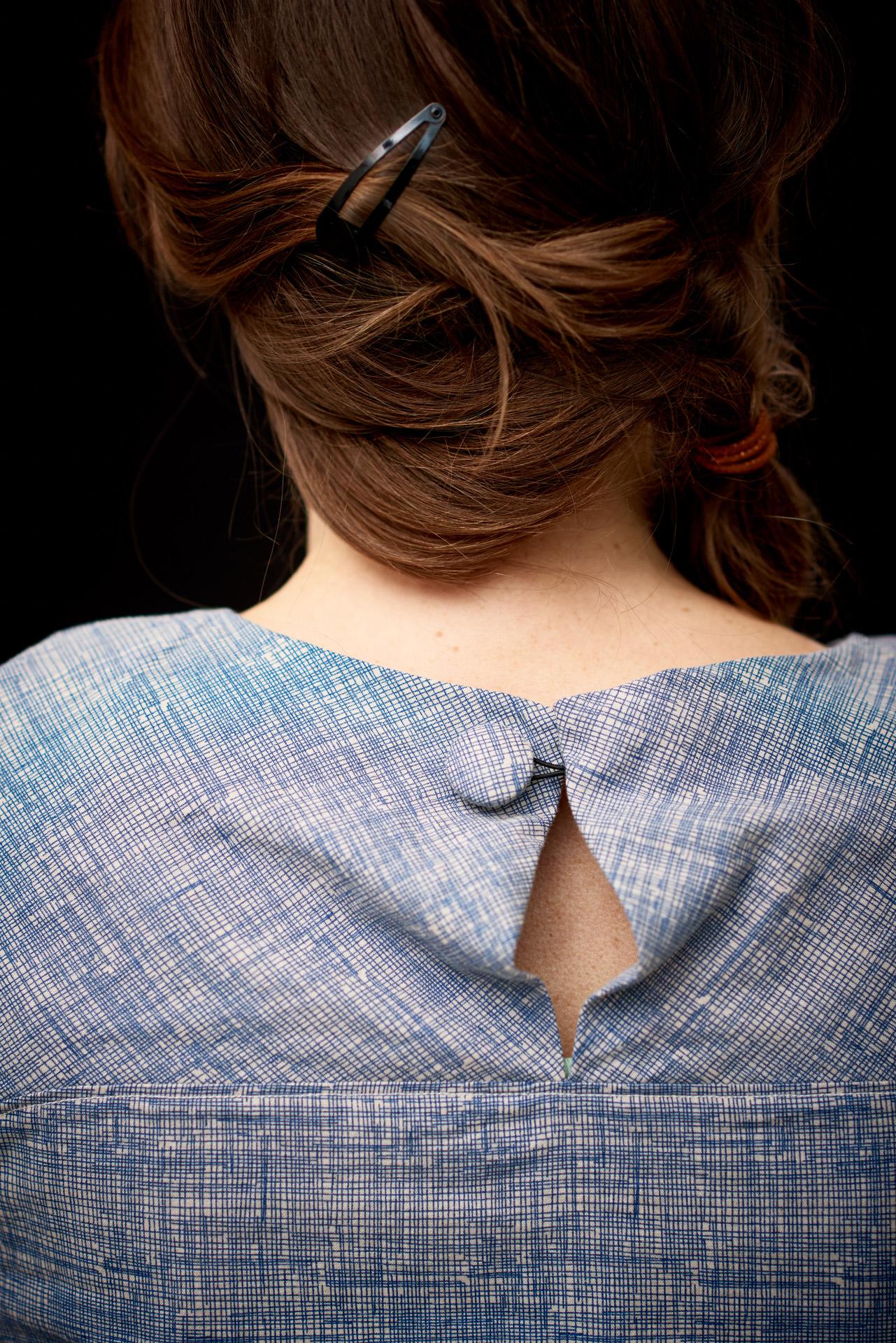 Fashiondetail: Knopf von Bluse