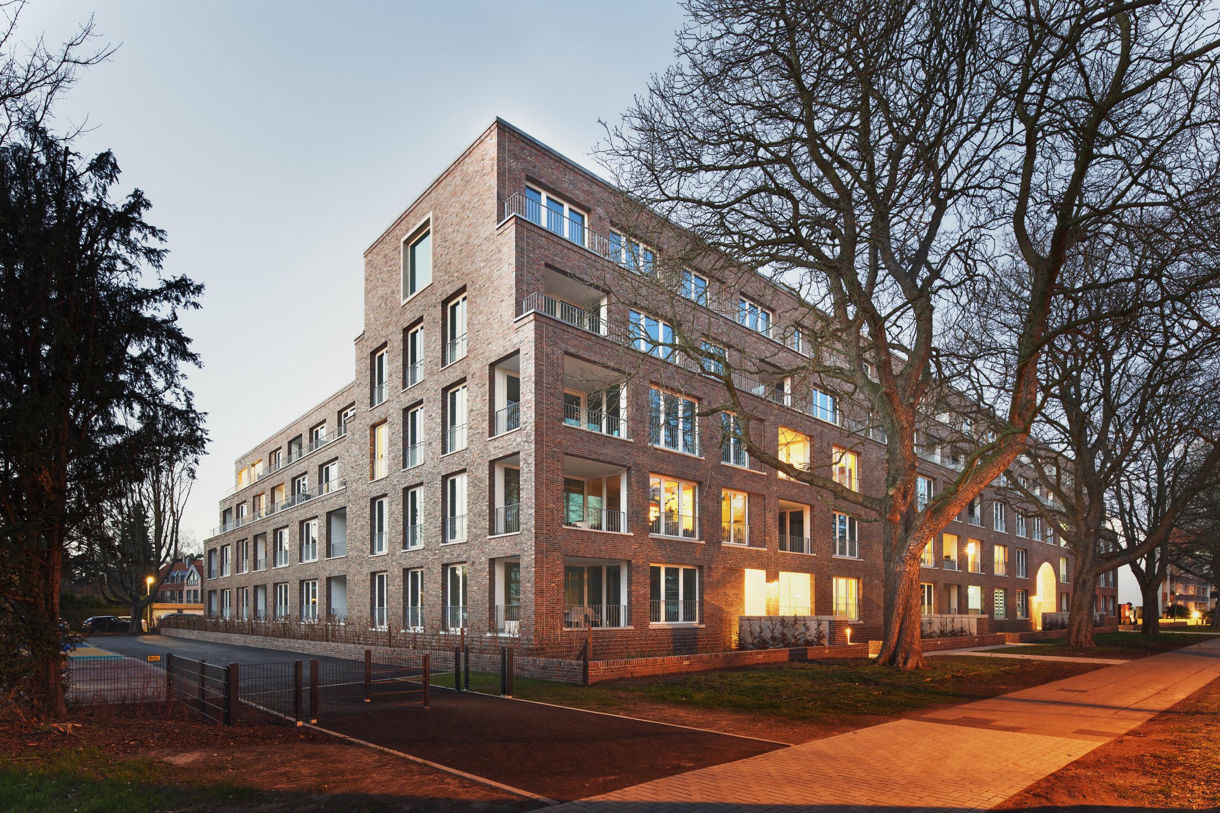 Architekturfoto: Wohnbebauung am Altenbekener Damm in Hannover, entworfen von gruppeomp architekten