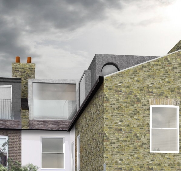 Render of proposed loft conversion to 78 Heathwood Gardens - Greenwich, London.