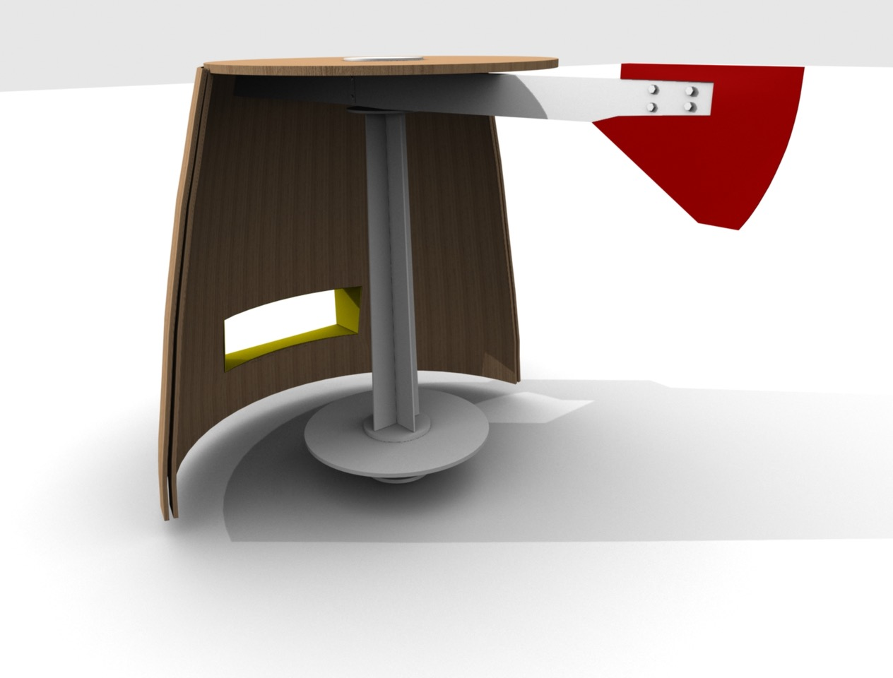 Render of the proposed windshelter design.