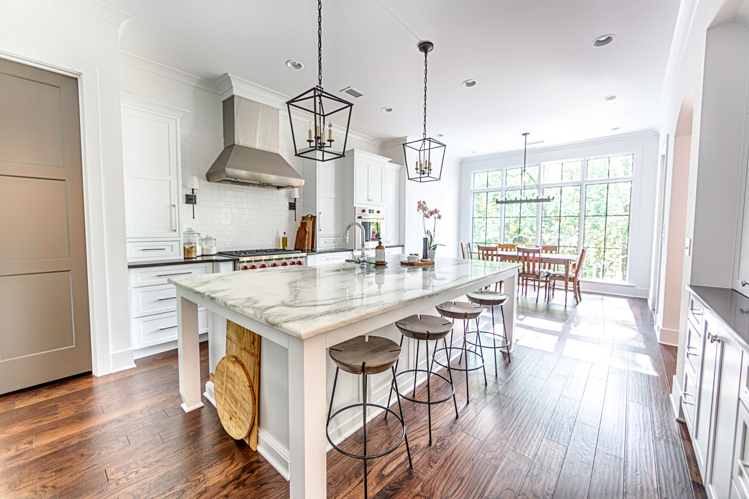The space needed for a kitchen island when remodeling